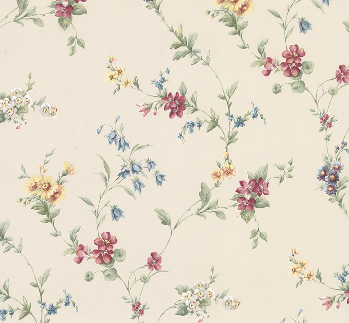 Marcus Cream Floral Trail Wallpaper