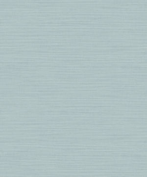 Zora Aqua Linen Texture Wallpaper-faux fabric design is accented by shimmering teal details and raised inks.