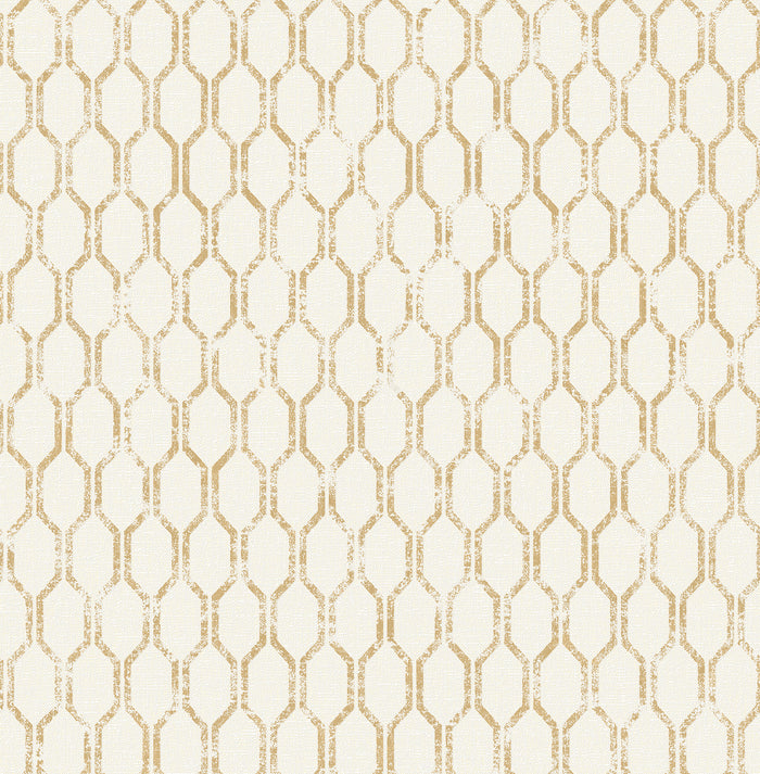 Elodie Gold Geometric Wallpaper