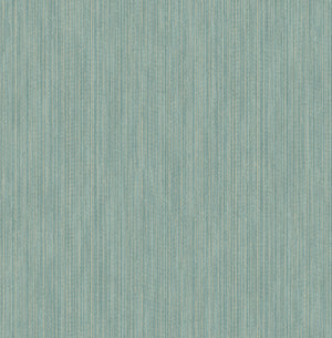 Vail Teal Texture Wallpaper-raised inks interplay of teal, gold and grey hues