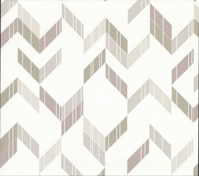 Verity Neutral Herringbone Wallpaper