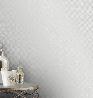 Advantage Fleur Silver Texture Wallpaper-SKU#2834-42241-silver distressed design shimmers with glittering details.  hung in bedroom