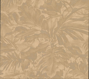 Advantage Boyce Bronze Botanical Wallpaper-SKU#2834-529234-luxurious bronze leaf wallpaper. Its heavily textured design and stitching details lend to its satin inspired style.