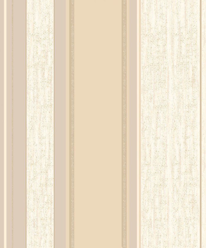 Mirabelle Cream Stripe Wallpaper