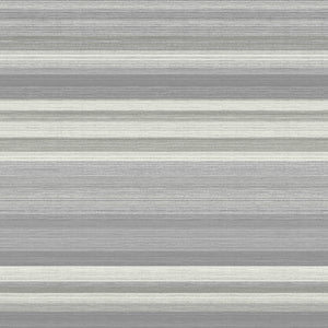Corbett Grey Stripe Wallpaper-SKU#2834-M1414-interplay of light and dark grey shades is accented by platinum details with raised and metallic inks.