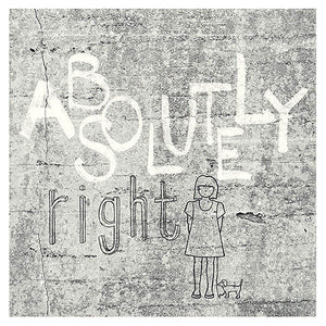 Eiffinger Absolutely Right Light Grey Graphic Mural-SKU#356200-graffiti motif done in grey and white, quote is printed and reads Absolutely right