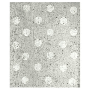 Concrete Dots Light Grey Polka Dot Mural-grey concrete with white polka dots.