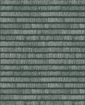 Eijffinger Solemn Lines Dark Green Wall Mural-SKU#369155- teal wall mural. The modern stripe design features hundreds of thin lines. Metallic inks add a shimmering finish.