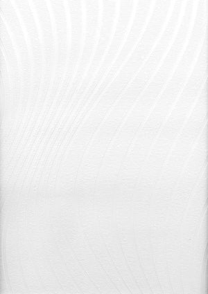 Swirl Undulating Texture Paintable Wallpaper-white textured swirl design