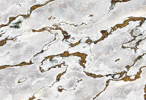 Marmoro Wall Mural-A swirling marble exterior with flecks of shimmering gold.