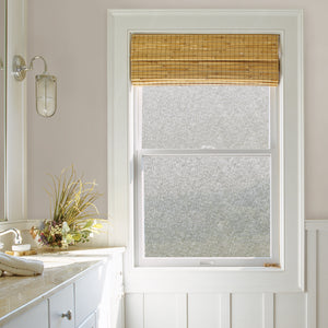 Fibers Window Privacy Film-Static cling window film with a speckled fibers design.   Shown on window.