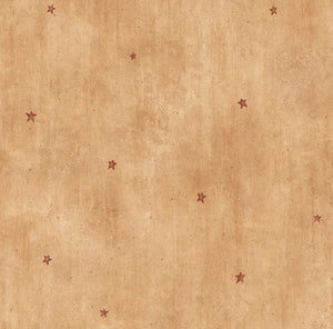 Dusty Sand Heritage Star Toss Wallpaper Wallpaper-Waterlines on parchment form the dark wheat backdrop for these beautiful, patriotic stars.