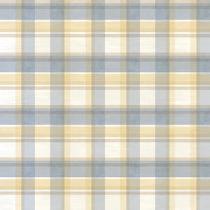 Joshua Blue Sunday Plaid Tartan Wallpaper Wallpaper-plaid blue with yellow and white