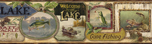 Skippy Sand Fishing Signs Portrait Border-collected signs and plaques highlights life on the lake