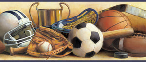 Hansel Sand Classic Sports Portrait Border-still life portrayal of sports gear! baseball, basketball, football, etc.