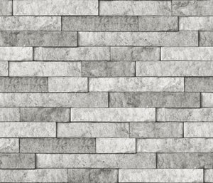 Grey Stone Peel & Stick Backsplash has stones of various sizes and detailed shading