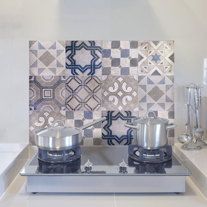 Vintage Tiles Kitchen Panel