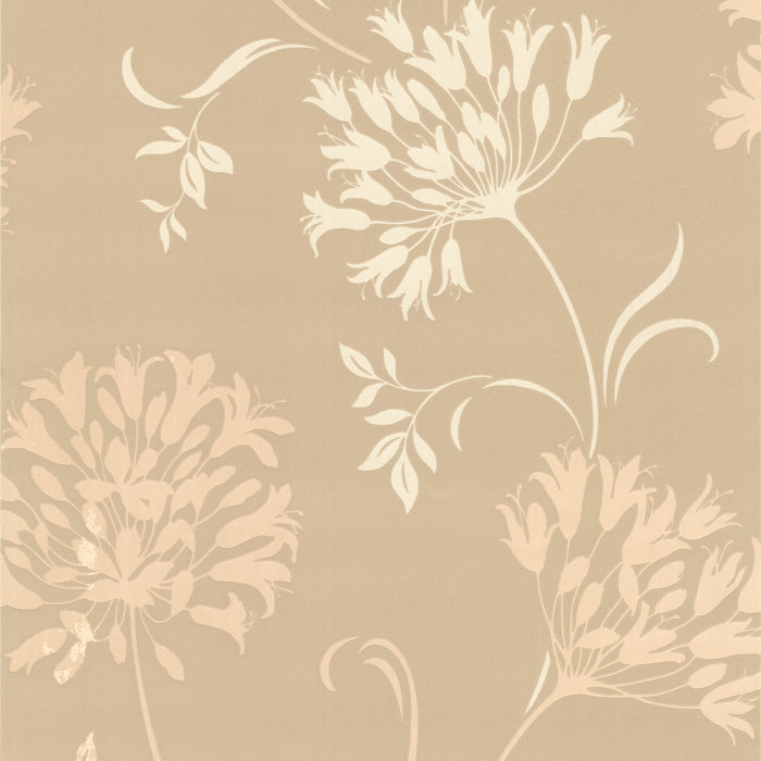 Nerida Taupe Floral Silhouette Wallpaper