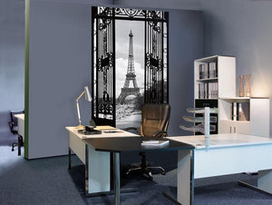 La Tour Eiffel 1990 Wall Mural-a sophisticated black and white palette, the Eiffel tower appears even more grand. hung in office