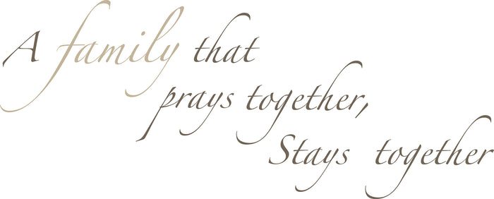 Pray Together Wall Quote