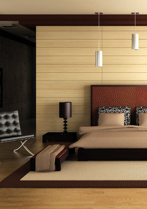 Maple Adhesive Film-A light unstained faux maple wood.  Put on bedroom wall behind bed.