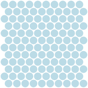 Penny Tile Peel & Stick Backsplash Tiles-peel and stick panels with a light blue shade