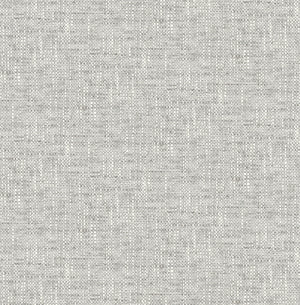 Grey Poplin Texture Peel & Stick WallpaperDesigned to resemble woven fabric and has raised grey ink details.