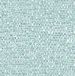 Aqua Poplin Texture peel and stick wallpaper-close up of light blue wallpaper.