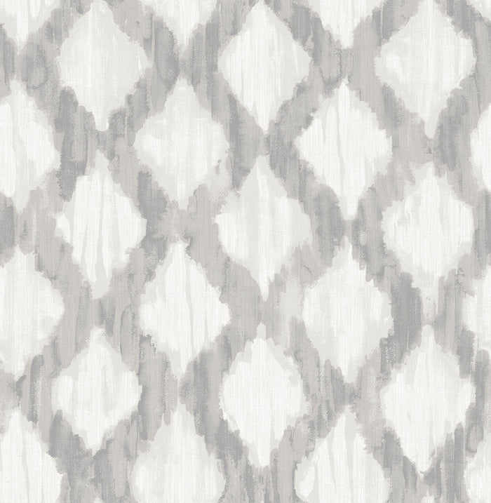 Grey Floating Trellis Peel & Stick Wallpaper