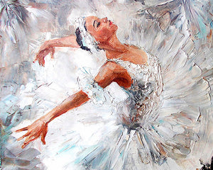 Ballerina Wall Mural-oil painting of ballerina