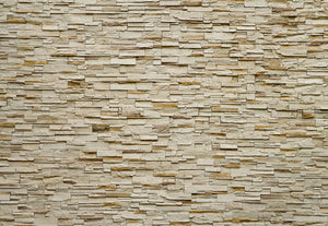 Fine Stone Wall Wall Mural-Its layered beige look and three dimensional design gives it the appearance of actual slate.