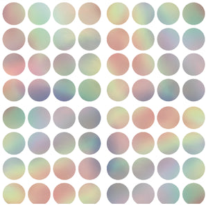 Prism Confetti Dots-shimmering dots of various colors