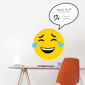 Moods Giant Message Board-Express your current mood with this fun dry erase message board! With thought bubbles, hearts and tears,  Hung over desk.