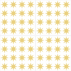 Metallic Gold Stars Wall Art Kit-peel and stick metallic gold stars.