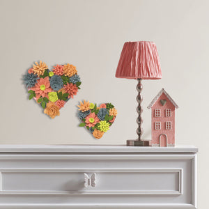 Heart Bouquet 3D Wall Art Kit