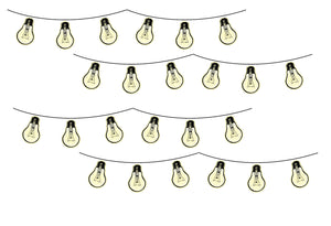Bright Ideas Glow in the Dark Wall Art Kit-come alive at night as the glow in the dark accents start to shine.  32 light-bulb decals.