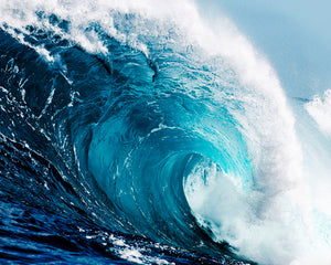 Ocean Waves Wall Mural-photograph of a cresting wave.