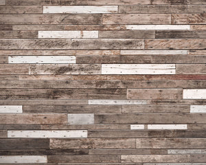 Wooden Planks Wall Mural (SKU WR50552) This mural gives the look of a wood-paneled wall. The mismatched planks are artfully aged to give realistic detail.