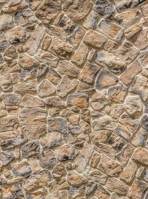 Muro Wall Mural-The warm colored stones give it a dimensional look.