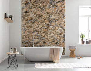 Muro Wall Mural-The warm colored stones give it a dimensional look. hung in bathroom