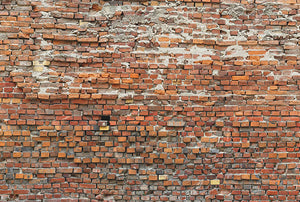 Bricklane Wall Mural-Bricks that seem to be haphazardly placed look perfectly put together when viewed in full.
