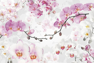 Komar Allure Wall Mural-SKU#XXL4-032- purple and white blossoms