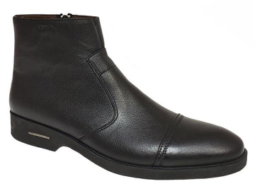 Cap-Toe Side Zip Gentlemen's Ankle Boots