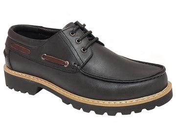 FCL X Vernik - Apron Toe Stitching 3-Eye Gentlemen's Boat Shoes