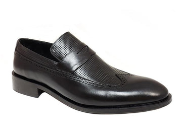 FCL X Vernik - Full Wing Semi Brogue Gentlemen's Penny Loafer