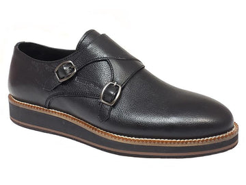 Double Monk Strap Plain Toe Gentlemen's Shoes