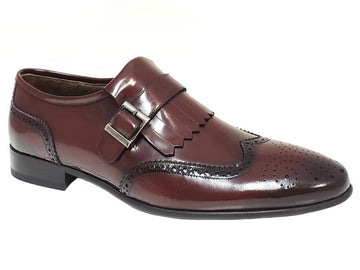 Wingtip Semi Brogue Kiltie Single Monk Strap Gentlemen's Loafers