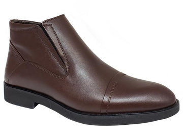 Cap-Toe Side Zip Gentlemen's Ankle Boot