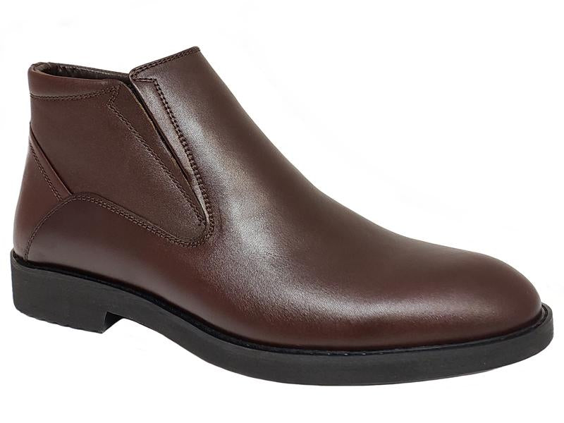 Plain Toe Side Zip Gentlemen's Ankle Boots