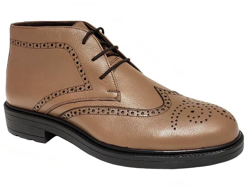 Long Wing Semi Brogue Gentlemen's Chukka Boots